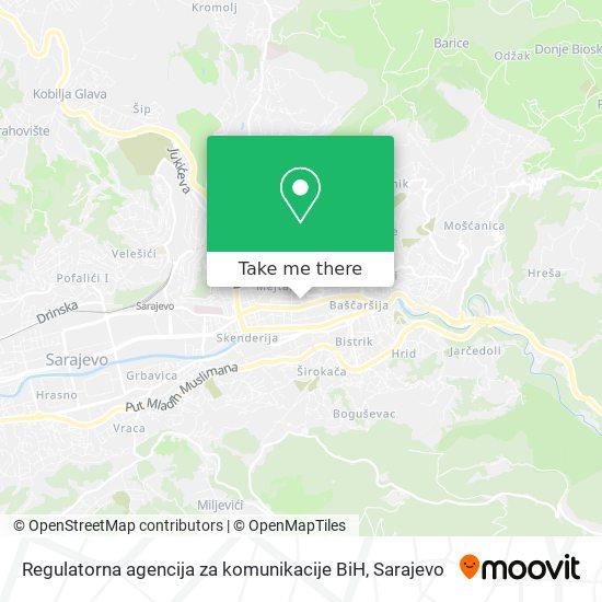 Regulatorna agencija za komunikacije BiH map