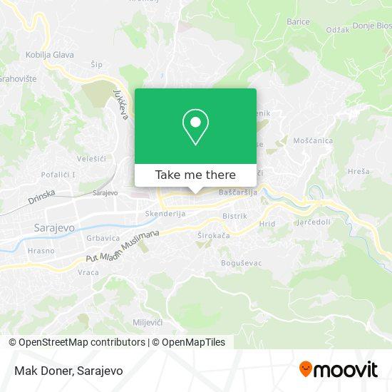 Mak Doner map