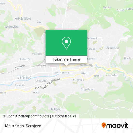 MakroVita map