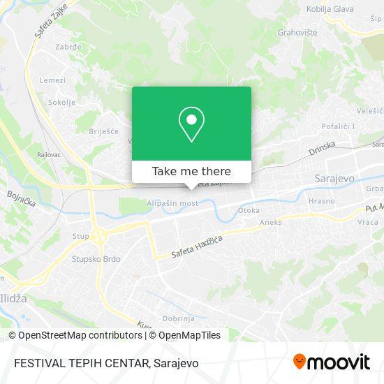 FESTIVAL TEPIH CENTAR map