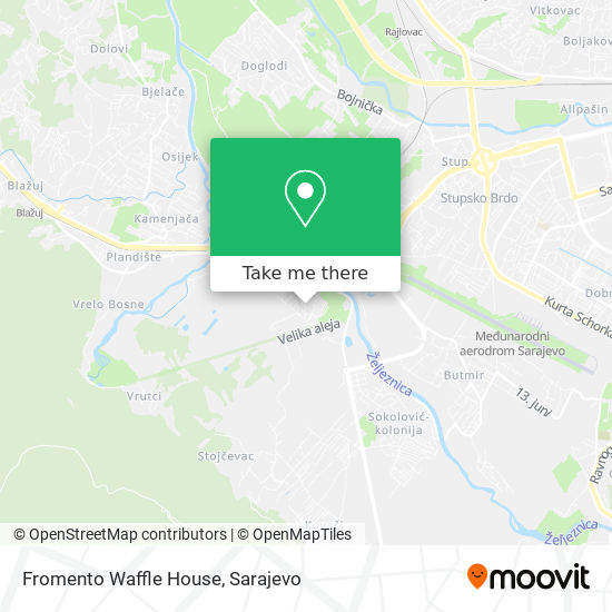 Fromento Waffle House map