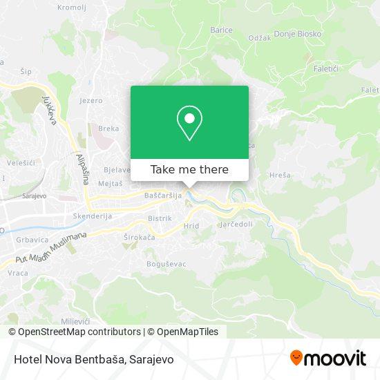 Hotel Nova Bentbaša map