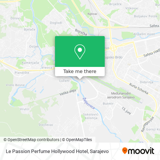 Le Passion Perfume Hollywood Hotel map