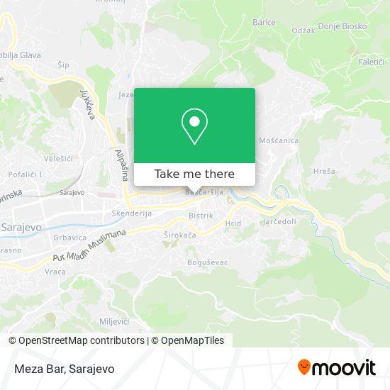 Meza Bar map