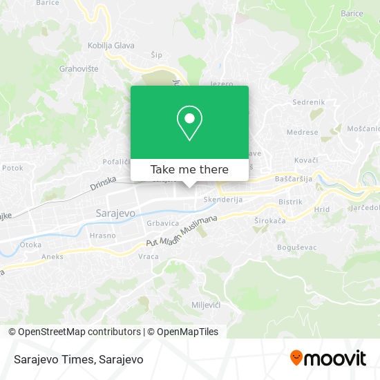 Sarajevo Times map