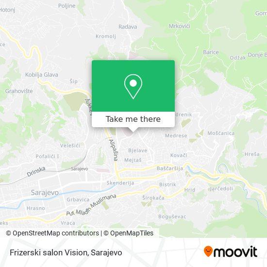 Frizerski salon Vision map