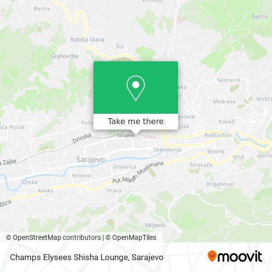 Champs Elysees Shisha Lounge map
