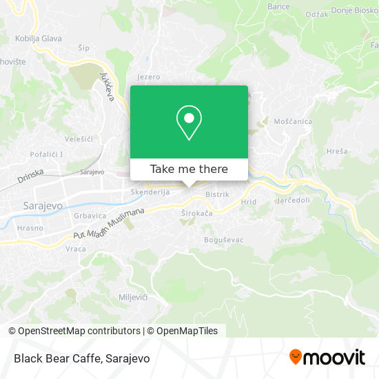 Black Bear Caffe map