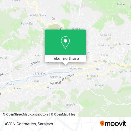 AVON Cosmetics map