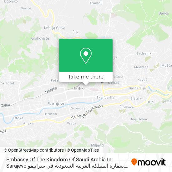 Embassy Of The Kingdom Of Saudi Arabia In Sarajevo سفارة المملكة العربية السعودية في سراييفو map