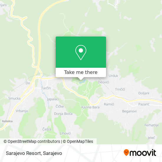 Sarajevo Resort map