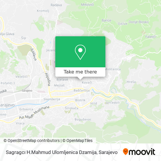 Sagragcı H.Mahmud Ulomljenica Dzamija map