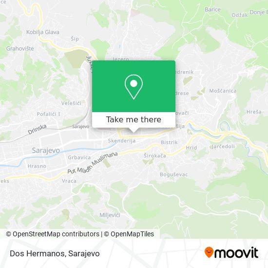 Dos Hermanos map