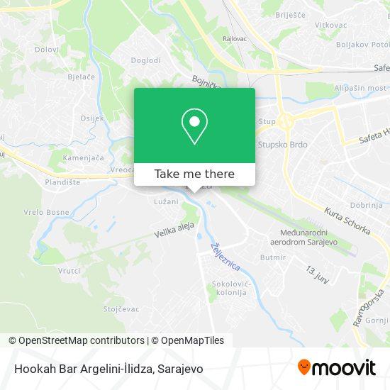 Hookah Bar Argelini-İlidza map