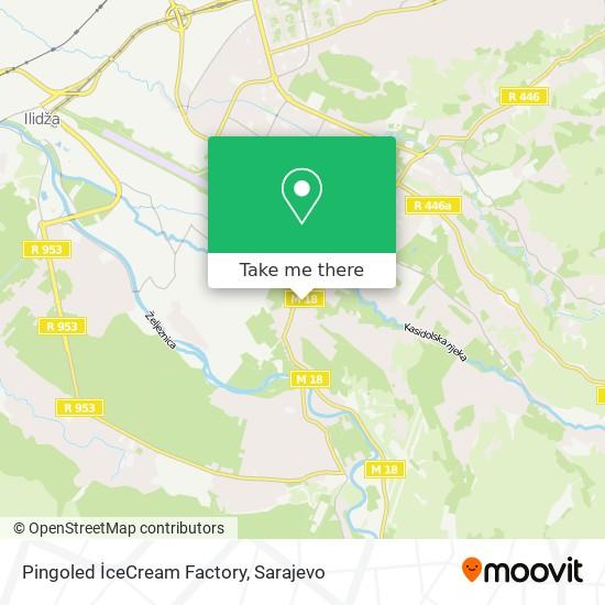 Pingoled İceCream Factory map