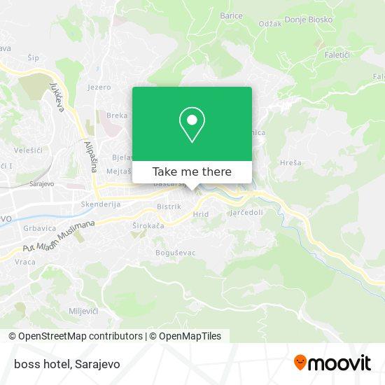 boss hotel map
