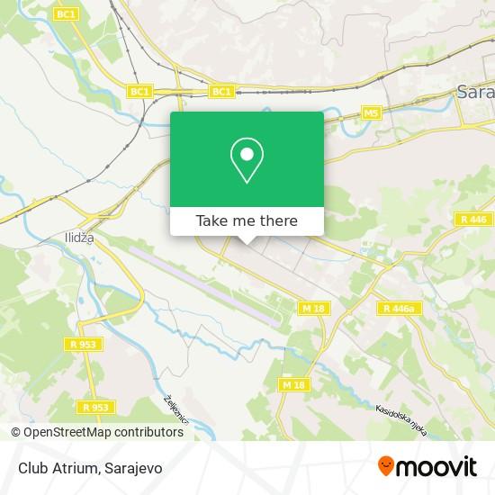 Club Atrium map