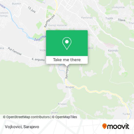 Vojkovici map
