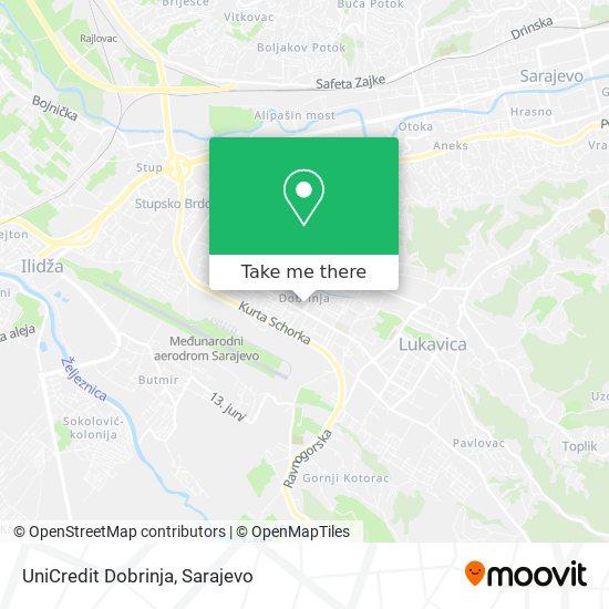 UniCredit Dobrinja map