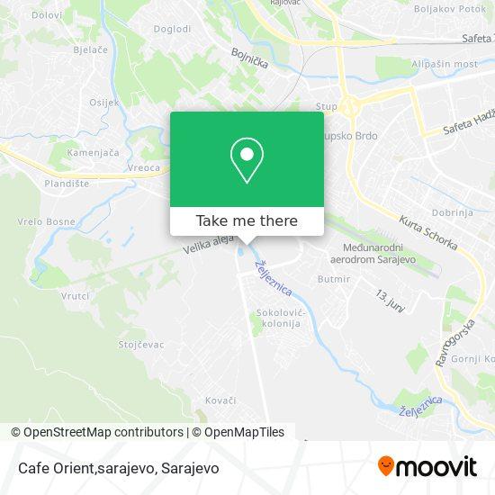 Cafe Orient,sarajevo map