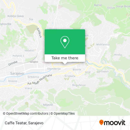 Caffe Teatar map