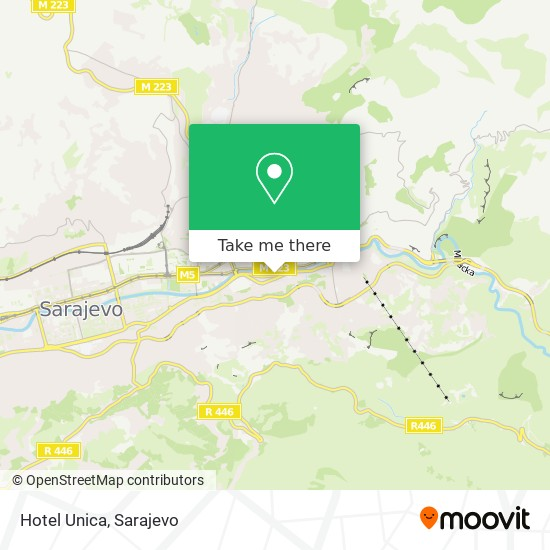 Hotel Unica map