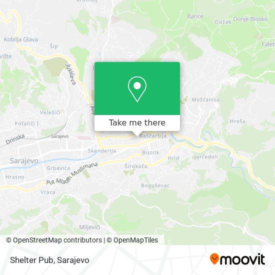 Shelter Pub map