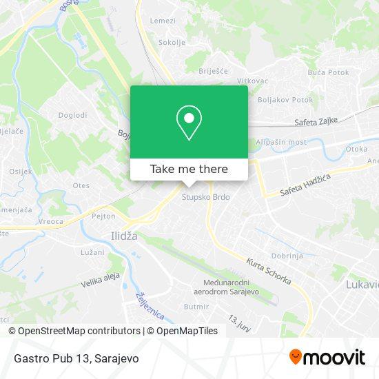 Gastro Pub 13 map