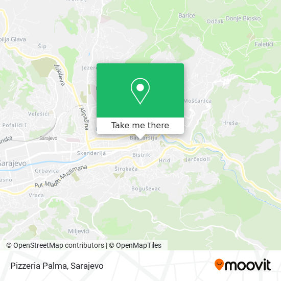 Pizzeria Palma map