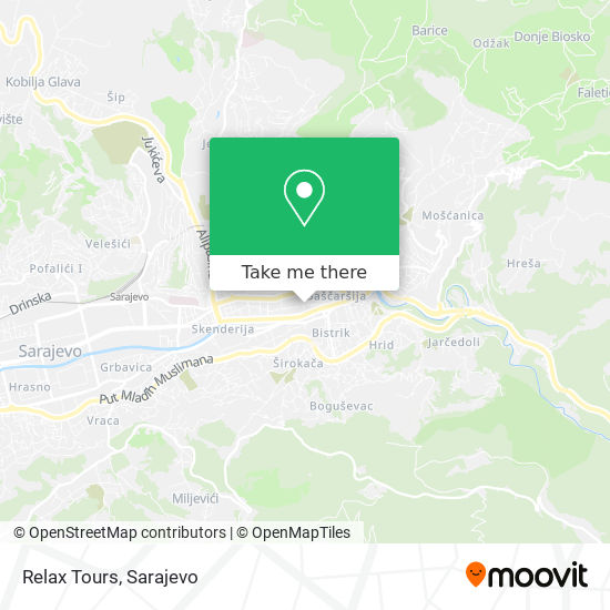Relax Tours map