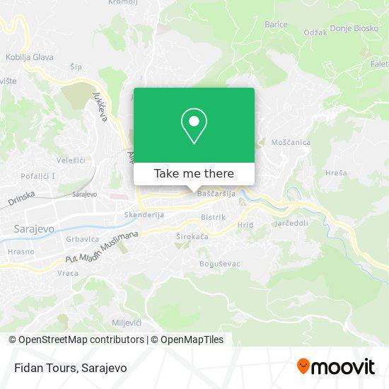 Fidan Tours map