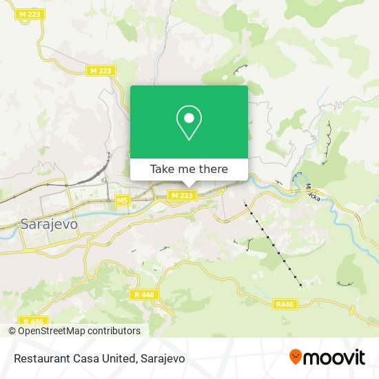 Restaurant Casa United map