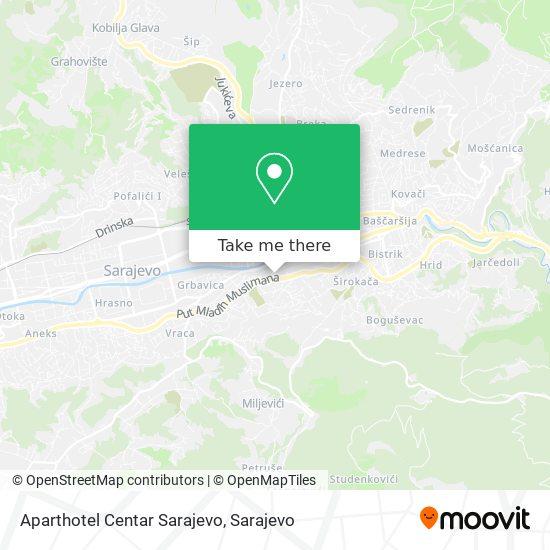 Aparthotel Centar Sarajevo map
