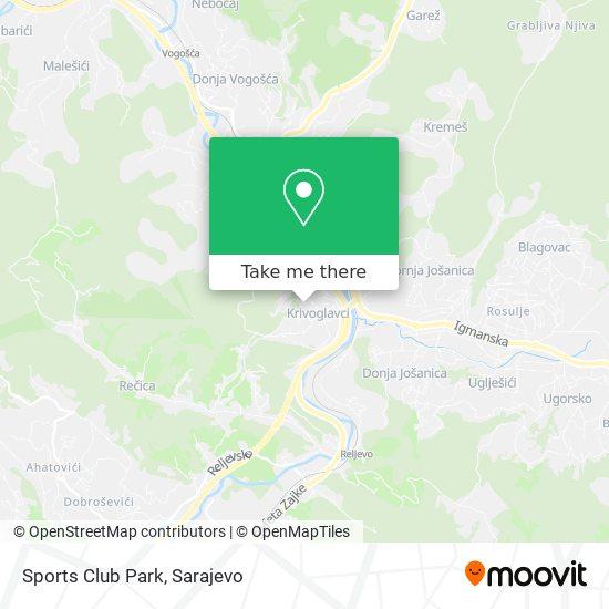 Sports Club Park map