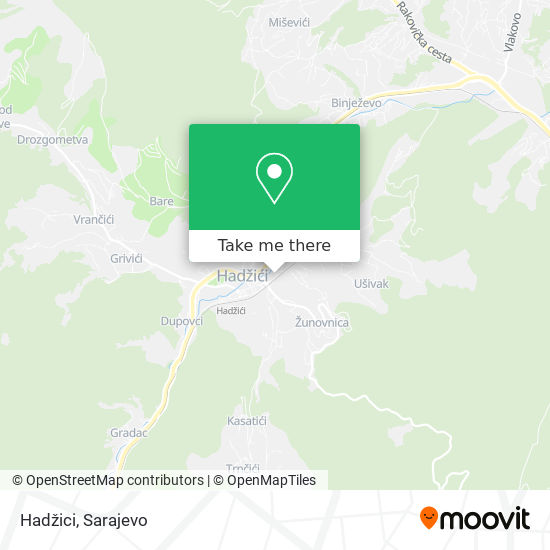 Hadžici map
