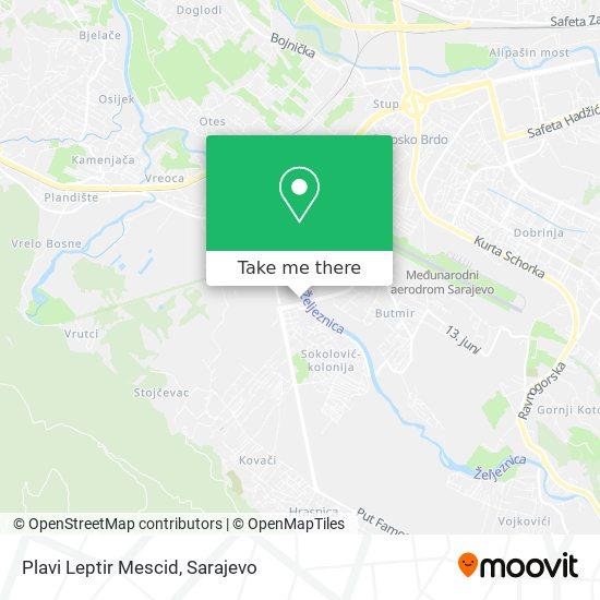 Plavi Leptir Mescid map
