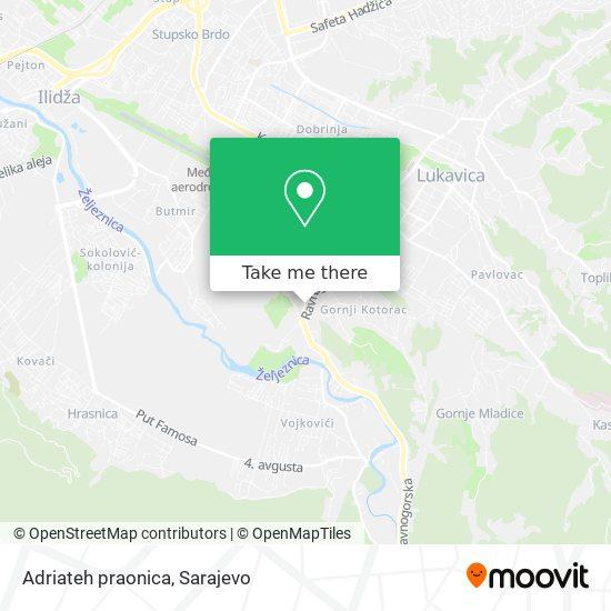 Adriateh praonica map