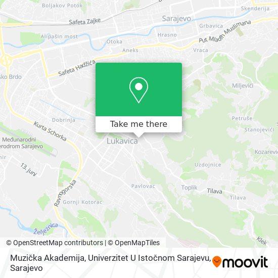 Muzička Akademija, Univerzitet U Istočnom Sarajevu map