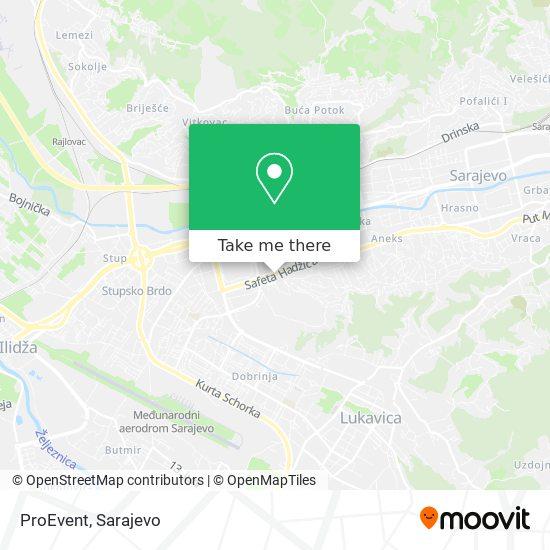 ProEvent map