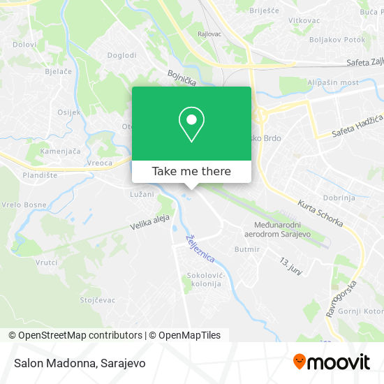Salon Madonna map