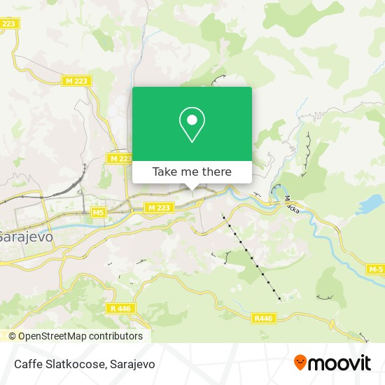 Caffe  Slatkocose map