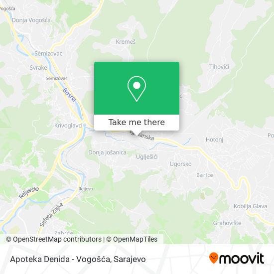 Apoteka Denida - Vogošća map