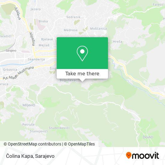 Čolina Kapa map