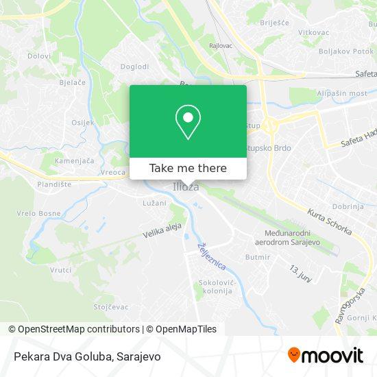 Pekara Dva Goluba map