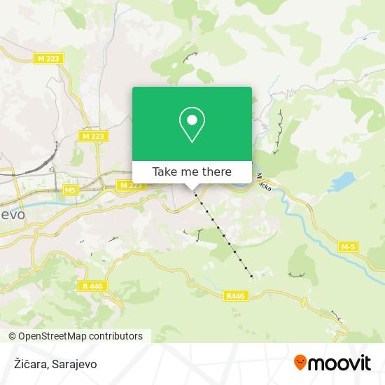 Žičara map