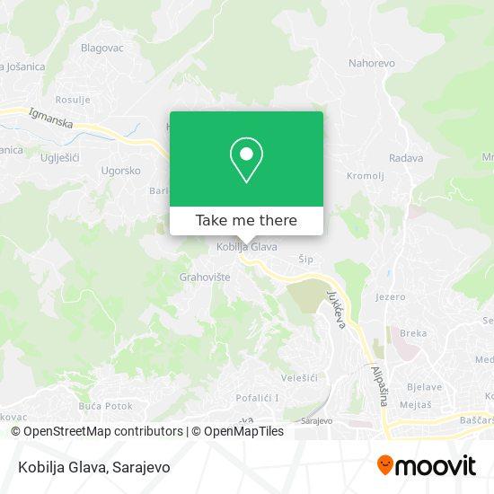 Kobilja Glava map