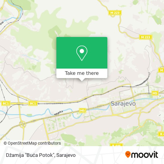 "Džamija ""Buća Potok"" map"