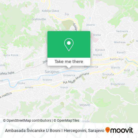 Ambasada / Veleposlanstvo U Švicarskoj map