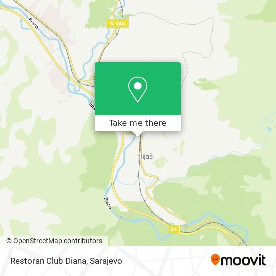 Restoran Club Diana map