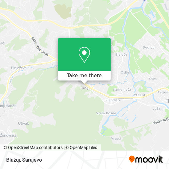 Blažuj map
